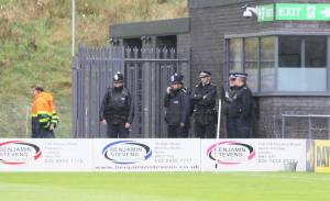police presence at Barnet FC